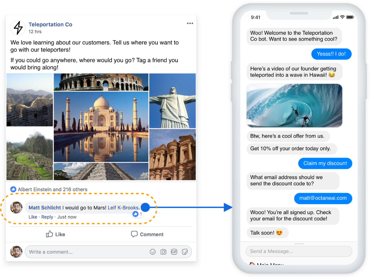 turn facebook comments into marketing opt-ins